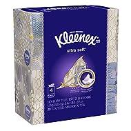 Kleenex Ultra Soft Facial Tissues, Cube Box, 50 Tissues per Cube Box, 4 Packs