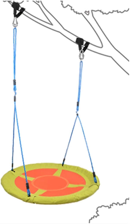 Altalena rossoonda Albero Altalena con Scala a Corda per Il Corpo di Sospensione del Senso del Bambino di 100 cm di Diametro Sedia Volante piattino Accessori Corvi Nido Ragno Rete Web tutti'aperto