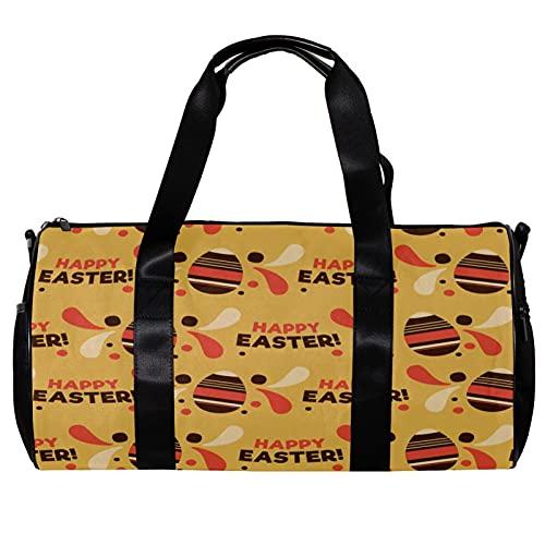 Borsone per le Donne Uomini Felice Pasqua Colorate Uova Sport Palestra Tote Bag Weekend Pernottamento Borsa Da Viaggio All'aperto Bagagli