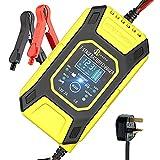 UOFUN Ladegerät Autobatterie 12V/7A, Vollautomatisches intelligente batterieladegeräte mit...