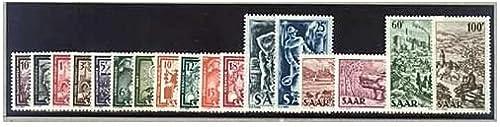 Goldhahn SAAR Nr. 272-288 postfrisch  Industrie, Handel 1949  - Briefmarken für Sammler