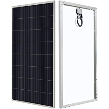 HQST 150 Watt 12 Volt Polycrystalline Solar Panel with MC4 Connectors High Efficiency Module PV Power for Battery Charging Boat, Caravan, RV and Any Other Off Grid Applications