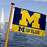 College Flags & Banners Co. Michigan Wolverines Boat and Nautical Flag