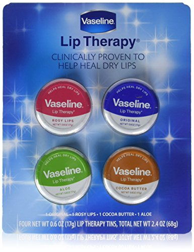 Vaseline Lip Therapy Tins, 4 pk