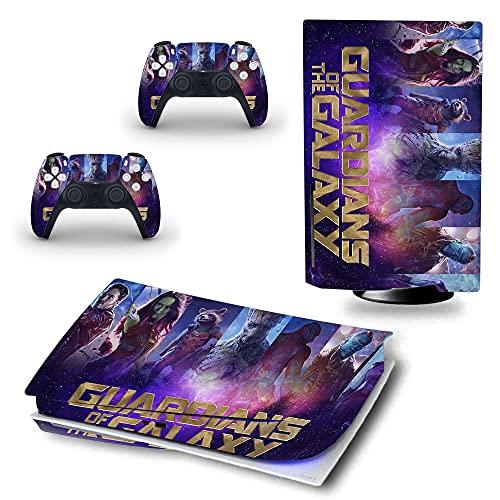 VINILOL Vinilo hecho para PlayStation 5 diseño Guardianes de la Galaxia pegatina cubierta skin para consola y 2 mandos