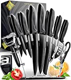 Home Hero 17 Pieces Kitchen Knives Set,...