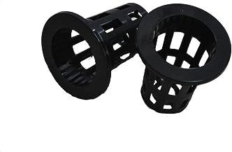 BIPY - Vasos de red hidropónica con esponja de plástico negro, cesta de jardín, plástico, 48PCS
