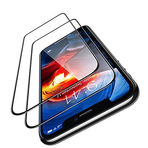 TORRAS iPhone 11 pro用 iPhoneXs用 iPhoneX 用ガラスフィルム 5.8インチ(2枚セット) (ガイド枠 気泡除去ヘラ付き) SGS認証 全面保護 日本製9H強化ガラス保護フィルム 高透過率 耐衝撃(アイフォンX Xs 11pro用)