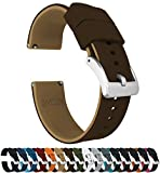 22mm Brown/Khaki - Barton Elite Silicone Watch Bands - Quick Release - Choose Strap Color & Width