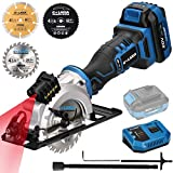 GALAXIA DC-20V 4000RPM Circular Saw with Laser Guide, Rip Guide