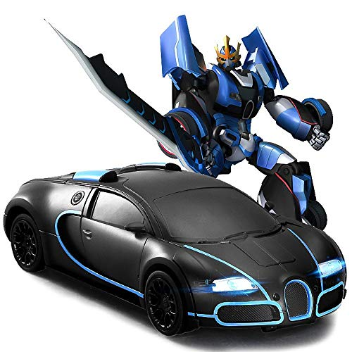 OUUED Radiografisch bestuurbare auto Bots 2,4 GHz RC Robot Cars One Button Vervorming Into Gesture sensing Vehicle Remote Control Sports Model RC speelgoed Robot speelgoed for Kids Best Christmas Gift