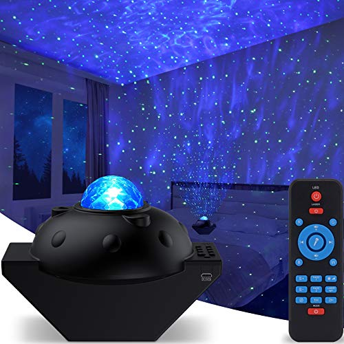 Galaxy Star Projector, Sky Light Lite Starry Night Projector Nebula Room Decor, Space Projector for Bedroom Cloud Cove Ocean Wave Light, Ceiling Light 360 Pro Projector for Kids with Bluetooth Speaker