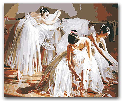 Diy Dancing Ballet Girls Figura Pintura Colorante Por Números Bailarina Sobre Lienzo Dibujar Fotos Por Números Para Danza Aula Decoración