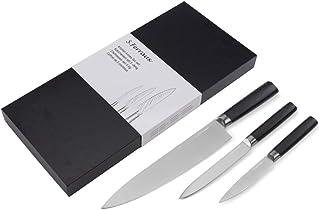 Ferraux Set de couteaux professionnels couteau de chef en 20 CM ( japonais) - Couteau de bureau - Couteau de chef - Manche...