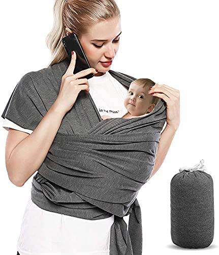 Bizcasa Elastisches Baby-Tragetuch für Neugeborene, Elastisches Tragetuch Neugeborene, Tragetuch Baby Elastisch