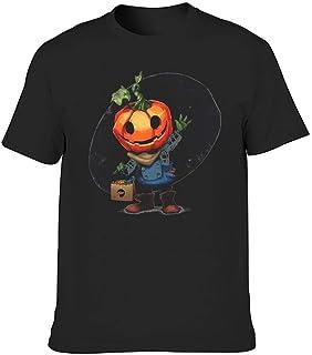 Moda Slim Fit hombres camiseta Halloween calabaza decir hola impresión regalo sudadera