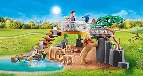 Playmobil 70343 Family Fun - Familia de león con vegetación