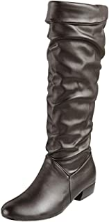 Seaintheson Women's Boots, Casual Winter Knee High Boots Thin High Tube Flat Heels Outdoor Riding Booties