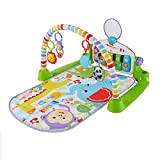 Fisher-Price- Gimnasio bebé Piano Pataditas superaprendizaje, Multicolor (Mattel FWT12)