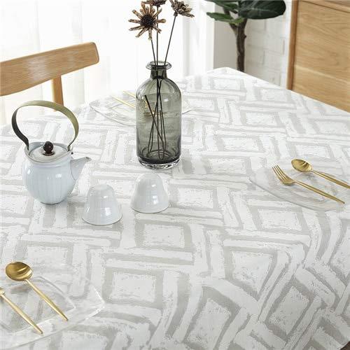 XXDD Mantel de Tela a Cuadros Simple Restaurante Rectangular Mantel Moderno Impermeable Lavable Mantel A3 135x200cm