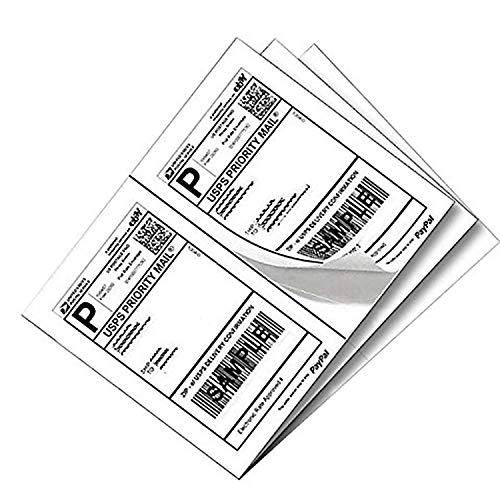 Mrdzx - Etiquetas autoadhesivas de envío de media hoja de 21,6 x 14 cm para impresoras láser y de...