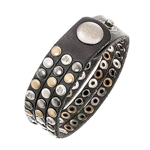 Bracelet en cuir Noir à clous Femme Le Temps des Cerises