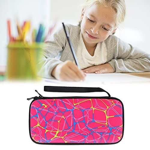 Caiqinlen Estuche para lápiz, Gancho de Ganchillo, Tienda de Instrumentos, Estuche de papelería, calculadora, Bolsa de Almacenamiento para Aguja, papelería para calculadora(Rose Red)