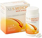 XLS Medical Max Strength Triple Action - Bloqueador De La Absorción De Carbohidratos, Azúcares Y Grasas. Tratamiento De 1 Mes, color Blanco, 120 Unidad, 150 g