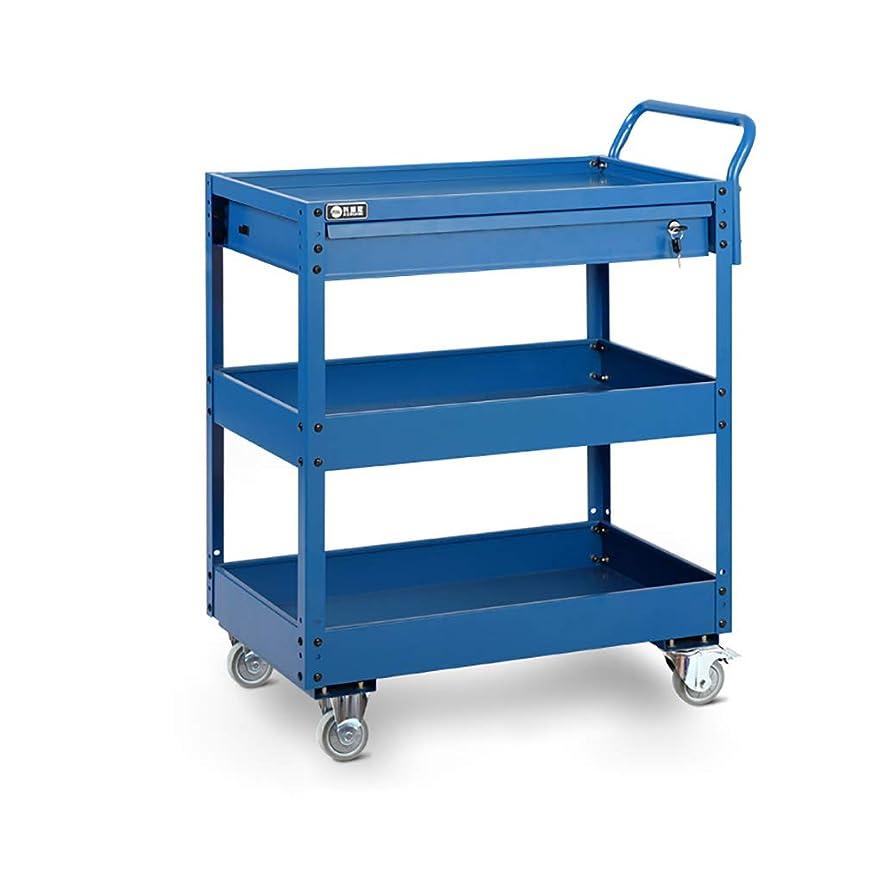 バンジージャンプ授業料ボアツールトロリー3段サービスカート取り外し可能な取り付け棚重荷重ガレージワークショップツールキャビネットDIYツール収納ホイールカート