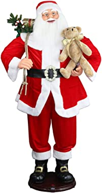 "CHENGMON 59"" Inch Christmas Life Size Animated Rock Singing and Dancing Santa Claus Collapsible Decoration Collection Musical"