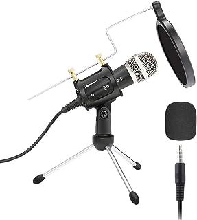 OSALADI 1 Set USB Microphone Set Recording Microphone Computer Class Smart Phone Recording Microphone Condenser Microphone...