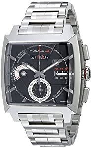 TAG Heuer Men's CAL2110.BA0781 Monaco Black Dial Watch