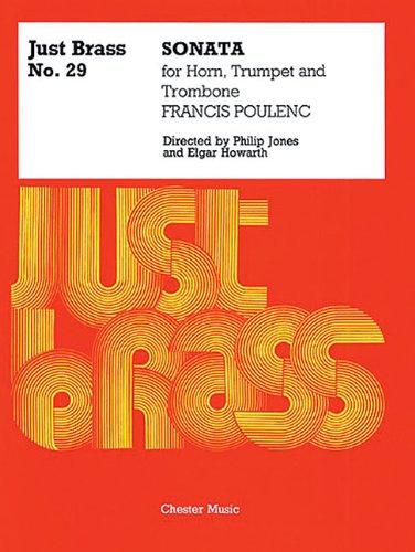 JB 29 Sonata for Brass 3 Part -For Trumpet / Horn / Trombone- (Score & Parts): Sammelband für Trompete: Just Brass No. 29