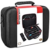 Switch Carrying Case Compatible with Nintendo Switch/Switch OLED Model 2021, COOWPS Hard Shell Protective Portable Switch Case Travel Bag for Switch Console & Accessories, Black