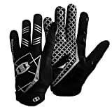Seibertron Pro 3.0 Elite Ultra-Stick Sports Receiver Glove American Football Gloves Youth and Adult/Guantes de fútbol Americano para Juventud y Adulto Black XS