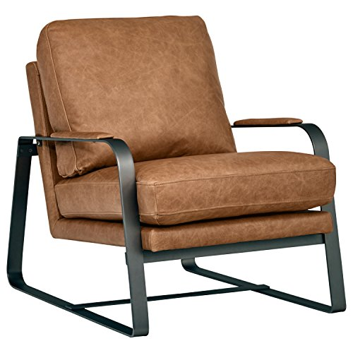 Rivet Summit Modern Leather Accent Chair