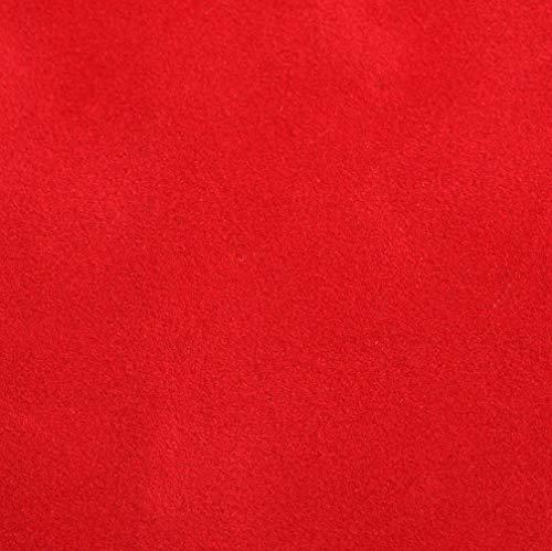 Venilia Samt Optik Rot Klebefolie Velvet Samtoptik, Veloursfolie, Samtfolie, Dekofolie, Möbelfolie, Tapeten, selbstklebende Folie, PVC, 140µm (Stärke: 0,14 mm), 53191, 45 cm x 1 m