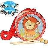 liuer Kindertrommel Trommel Musikinstrumente Set Spielzeug mit Glockenarmband Handtrommel mit...