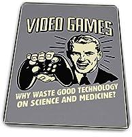 マウスパッド ゲーミングマウスパッド-ビデオゲーム!サイエンスレトロユーモアで廃棄物テクノロジーを選ぶ理由滑り止め デスクマット 水洗い 25x30cm