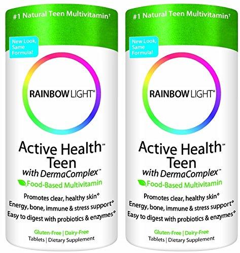 Rainbow Light Active Health Teen Multivitamin 90 count 2Pack =180 count
