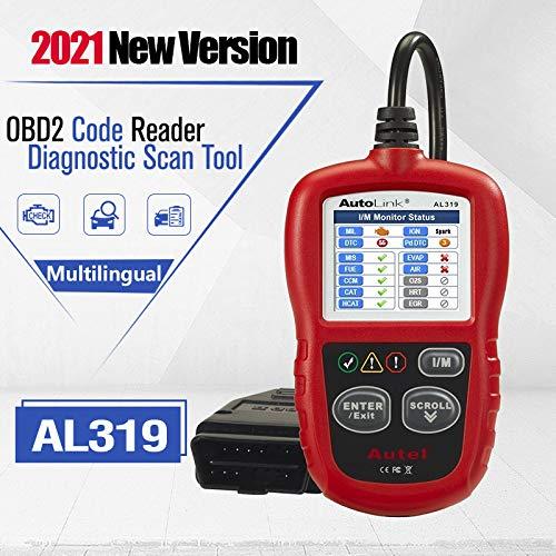 Autel AL319 OBD2 Diagnosegerät,Fehlercode für obd2 Diesel und benzin Fahrzeuge,MIL auschalten,Echtzeitdaten und Freeze Frame anzeigen,DTC-Definition Deutsch