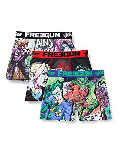 FREEGUN Herren Lot De 3 Boxer dc Comics Unterhose, Mehrfarbig (Multicolor G1), Small (3er Pack)