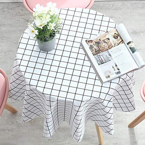 Traann plastic tafelkleden afwasbaar, rond modern/protector textiel backing grijs 180 B