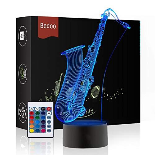 Weihnachtsgeschenk Magie Saxophon Lampe 3D Illusion 16 Farben Touch-schalter USB Einsatz LED-Licht Geburtstagsgeschenk und Party Dekoration