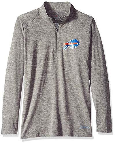 Buffalo Bills Womens Tonal Gray Space DYE 1/4 Zip MD