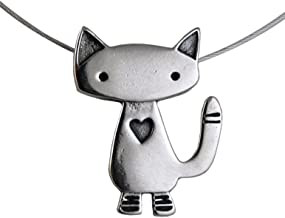 product image for Modern Artisans Alley Cat American-Made Sterling Silver Charm Necklace