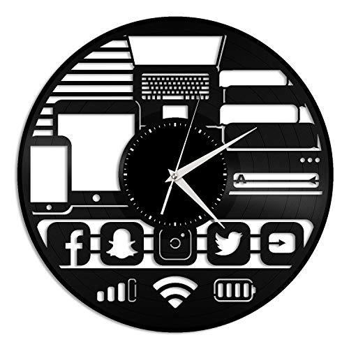 CHENWN Gadget Vinyl Record Wandklok, uniek design cadeau voor vrienden in huis en als kamerdecoratie