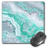 3dRose Mouse Pad Image of Trendy Luxury Aqua Mint Quartz and Gray Gemstone Agate Geode, 8 x 8' (mp_275123_1) [並行輸入品]