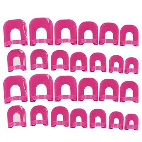 Goodplan Premium Qualité 26 pcs Vernis À Ongles Protecteur Stencil Réutilisable En Plastique Souple Protecteur D'ongles Pour Garder La Couverture Polonaise Vernis À Ongles Stencil Nail Art De Base O