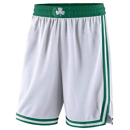 FGRGH Pantalones Cortos de Baloncesto de Cēltìcs para Hombres, 0 Tátūm Training Fitness Casual Ropa Pantalones Cortos, Transpirable y seco rápido (S ~ XXL) White-M